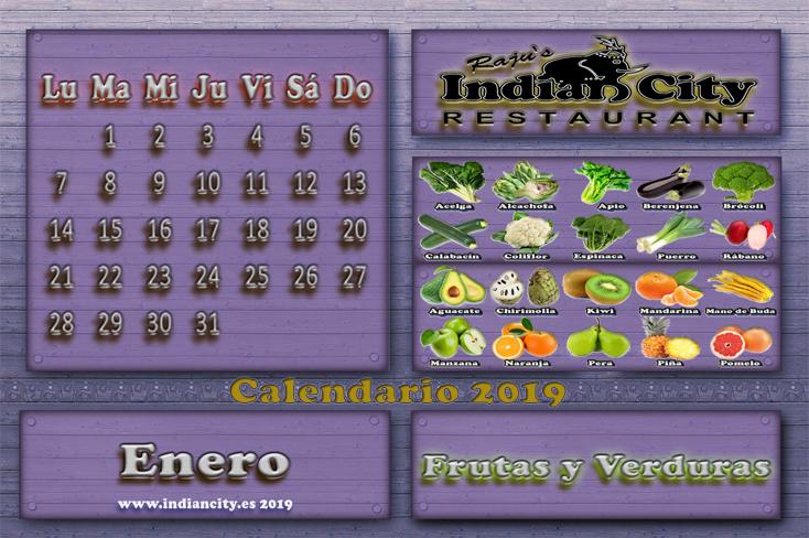 Calendario de Temporada RajusIndianCity 2019 - Enero