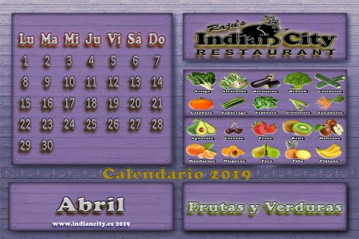 Calendario de Temporada RajusIndianCity 2019 - Abril