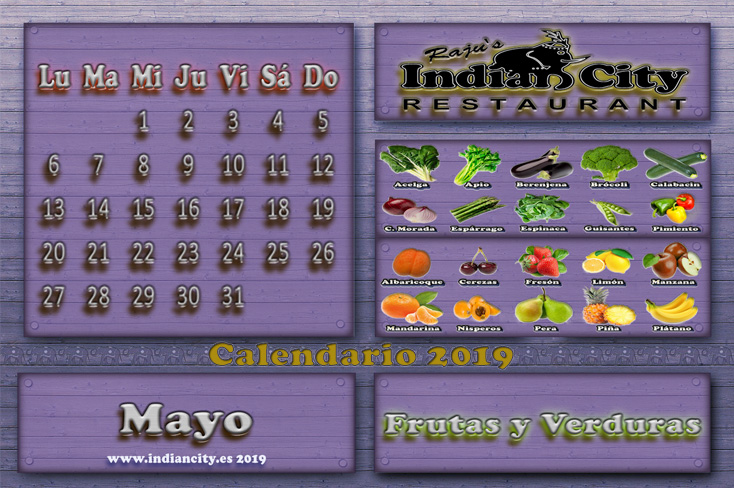 Calendario de Temporada RajusIndianCity 2019 - Mayo