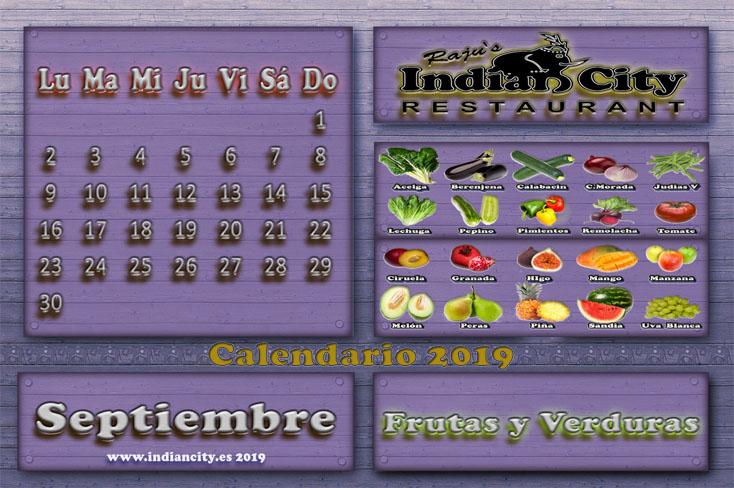 Calendario de Temporada RajusIndianCity 2019 - Septiembre