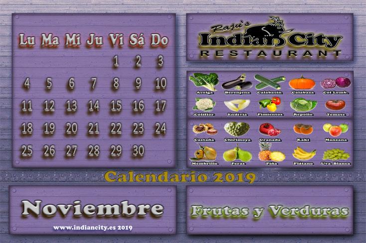 Calendario de Temporada RajusIndianCity 2019 - Noviembre