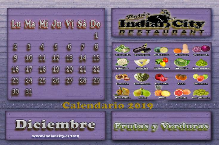 Calendario de Temporada RajusIndianCity 2019 - Diciembre