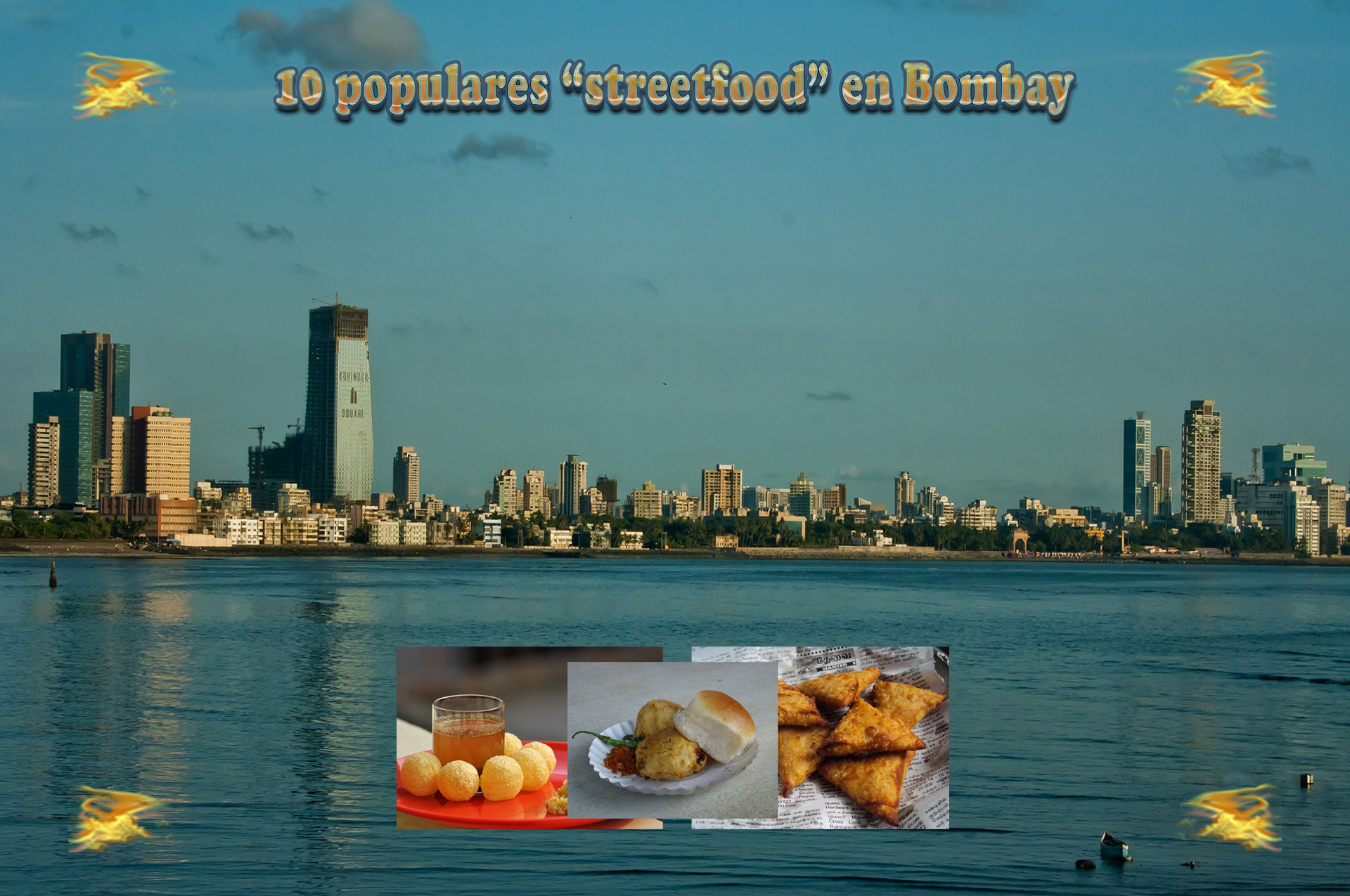 10 populares streetfood en Bombay