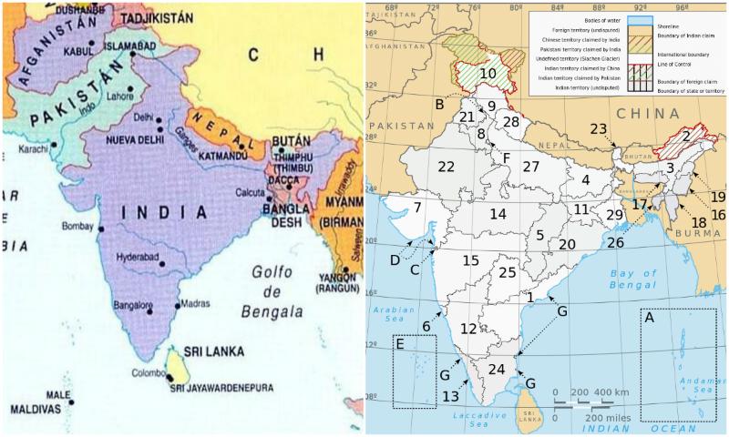 Peninsula Indostan Mapa Fisico.Conocer La India Con Raju S Indian City